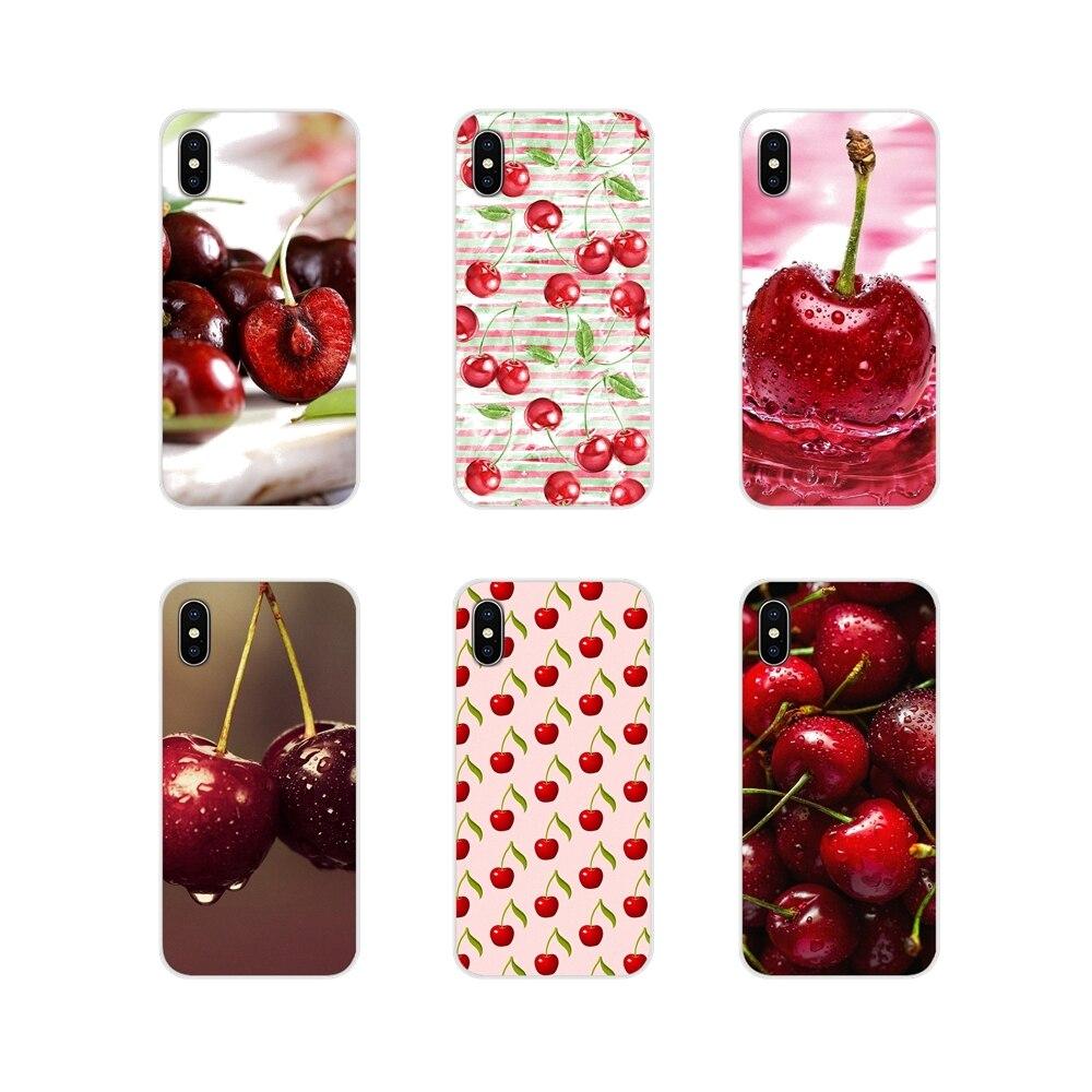 Para Samsung Galaxy S3 S4 S5 Mini S6 S7 borde S8 S9 S10 Lite Plus Nota 4 5 8 9 funda de piel de TPU fruta encantadora cereza pintada hermosa