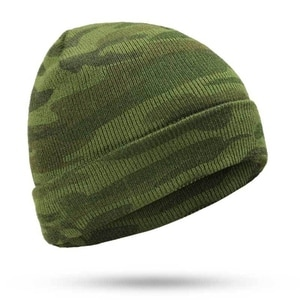 New Fashion Winter Hat Camo Knitted Fall Hat Thick Warm Bonnet Skullies Beanie Soft Knitted Beanies