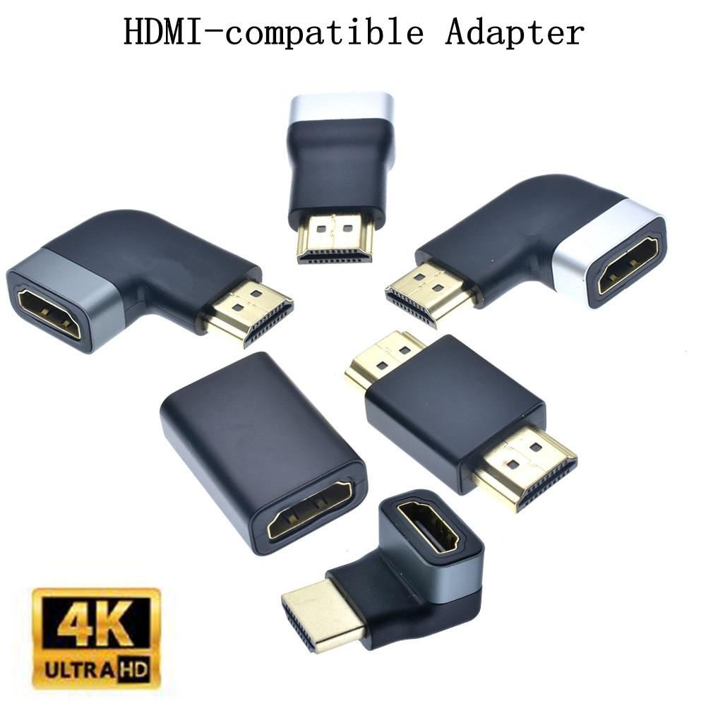Adaptador compatible con HDMI, convertidor de macho a hembra de ángulo recto...