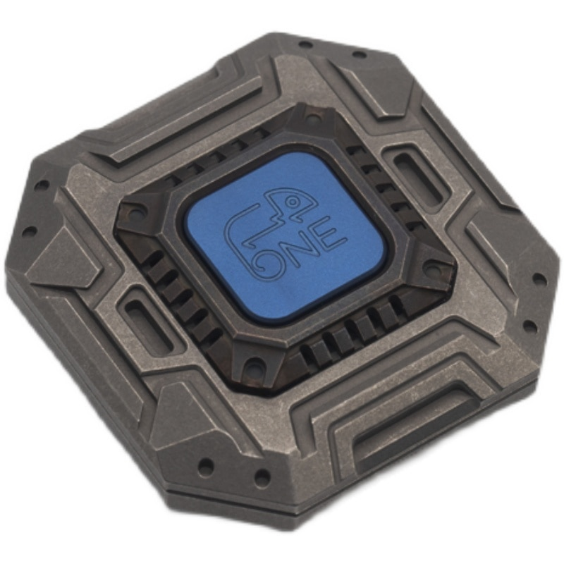 ONE Haptic Coin Titanium Alloy Copper Sugar Box Metal Decompression EDC Storage Box Toy enlarge