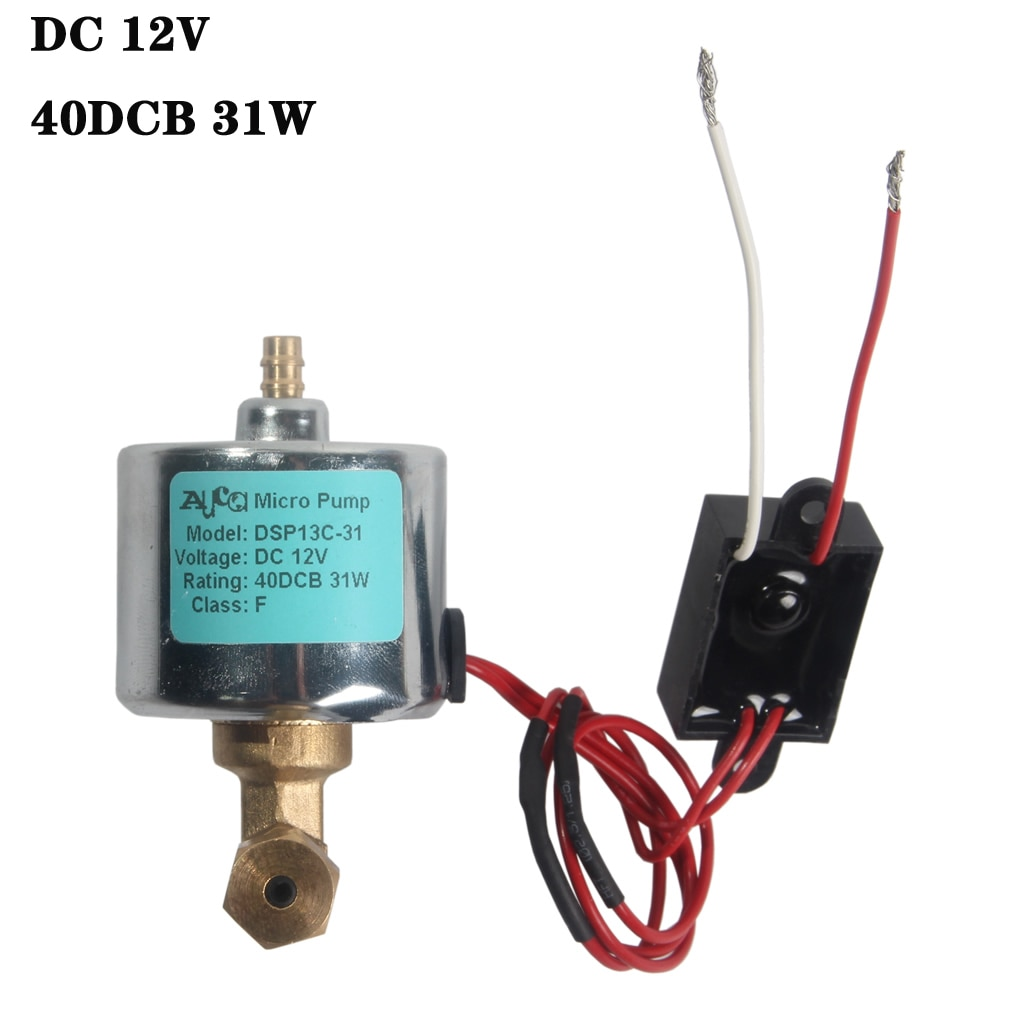 12V 31W 40DCB Electric Micro Power Oil Pump For 1200W 1500W Spryer Atomizer Fogger Smoke Fog Machine Steamer Water Pumps Parts 40dcb 18w for 700 1200w 900w smoke fog machine ejector oil solenoid pump disinfectant atomizer fogger stage fogging sprayer pump