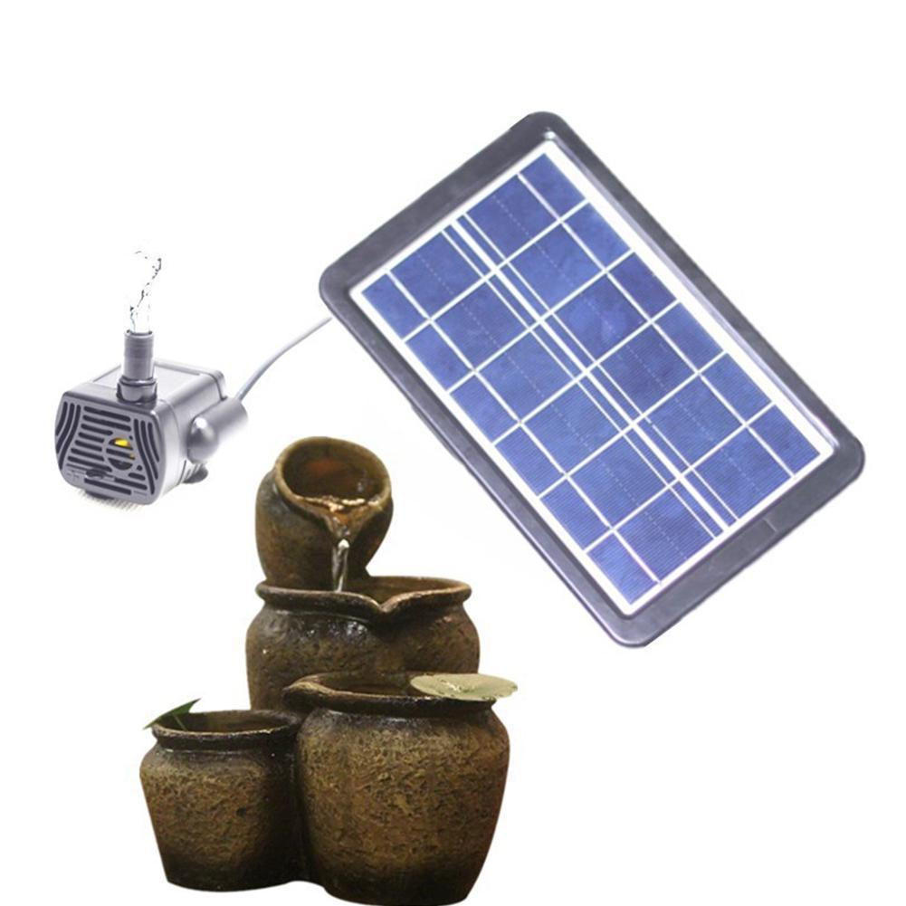Bomba de agua de Panel Solar, bomba de agua sumergible sin escobillas USB 3W/6W, Mini bomba de paisaje para acuario, fuente de peces, tanque de estanque, decoración