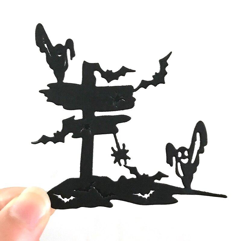 Металлические Вырубные штампы в виде призрака на Хэллоуин для рукоделия, скрапбукинга, альбома, бумаги, вырубки для тиснения