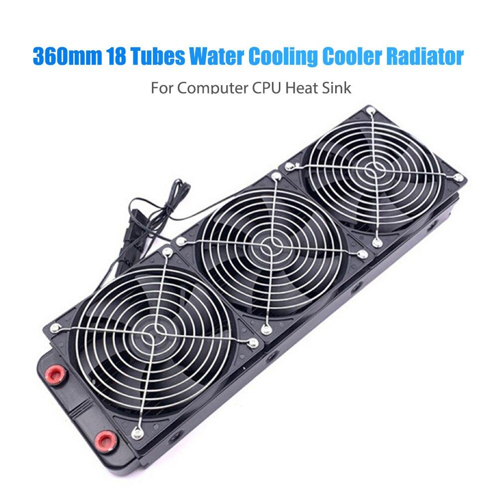 360 مللي متر رادياتير لتبريد للمياه/منفذ مستقيم وحدة المعالجة المركزية بالوعة الحرارة مع مروحة 18 أنابيب الألومنيوم الكمبيوتر الحرارة المبرد ...