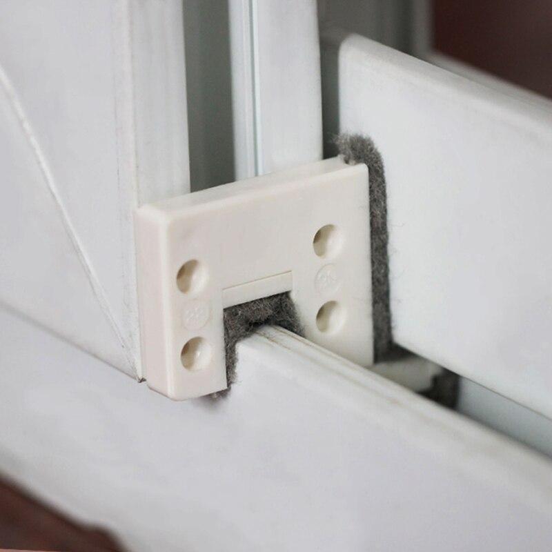 Tampão de janela deslizante 4 pçs/set, bloqueio e baixo, vedação de pista, à prova de vento, tira, porta do vento quente para casa almofada isolante de som