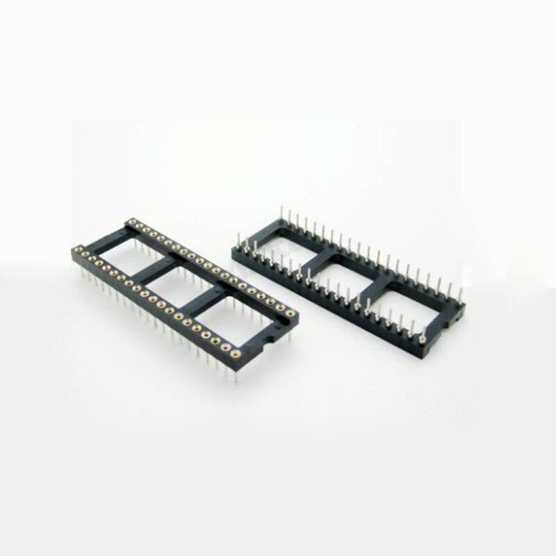 5 шт. DIP-40 круглое отверстие 40 штырьков 2,54 мм DIP DIP40 ИС розетки адаптер паяльный Тип 40 штырьков ИС разъем DIP40