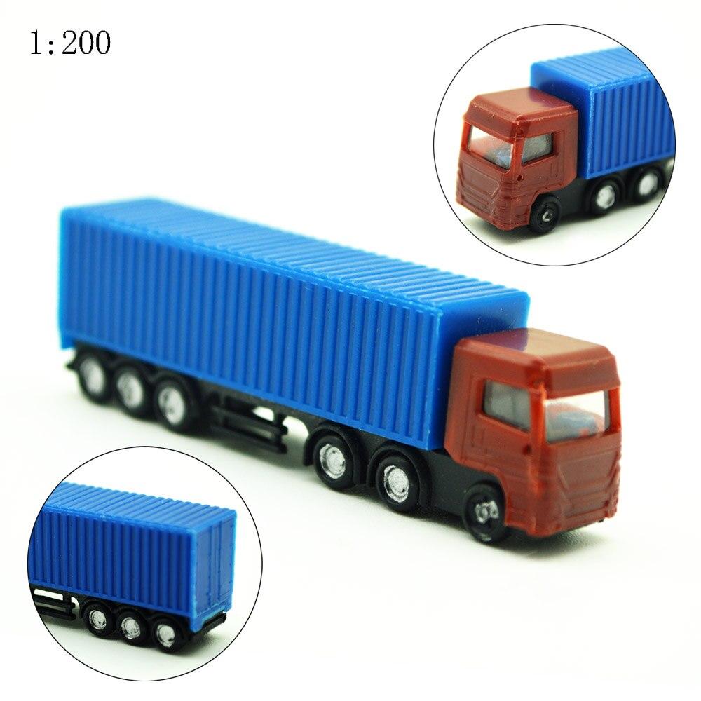 Camión a escala 1/200, kits de construcción, modelo de juguete, camión/furgoneta, camión a escala 10 uds, modelo de camión contenedor