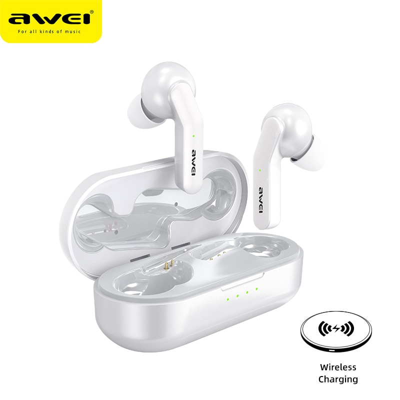AWEI True Wireless Stereo Earbuds Touch-Control Bluetooth 5.0 Super Bass HiFi Handsfree Waterproof Headset   With Dual Mic