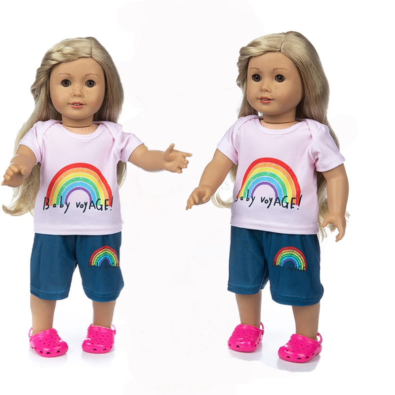 Rainbow Suit for American girl  18inch doll clothes for children best gift