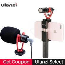 Vlog configuration caméra compacte Microphone W poignée de téléphone poignée appareil vidéo Smartphone micro pour iPhone 11 Huawei Canon Nikon appareils photo reflex numériques