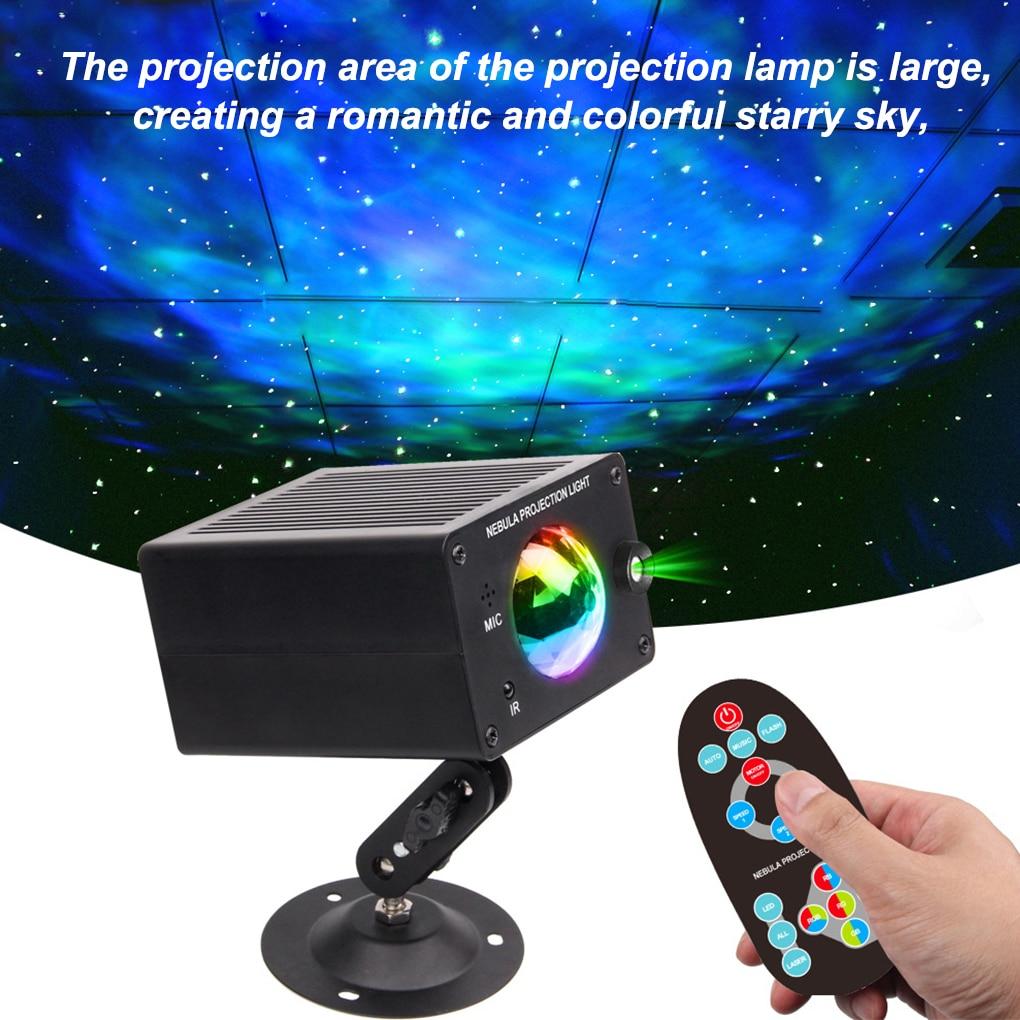 projetor laser estroboscopico de efeito feito de palco led galaxy projetor noturno