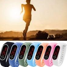 LED Digital Display Sports Bracelet Children Student Boy And Girls Unique Design Silicone Sport Leis