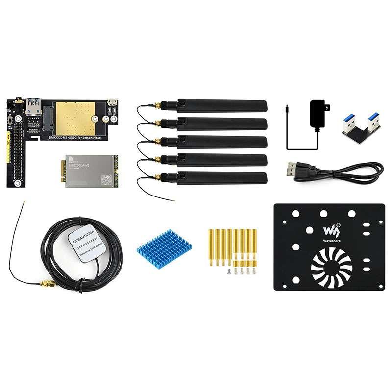 SIM8200EA-M2 5G Module Designed for Jetson Nano, 5G/4G/3G Support, with EU Plug/US Plug ,Multi Mode Multi Band