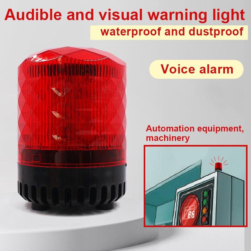 sound alarm led warning beacon flashing light alarm emergency light warn light lamp  strobe signal siren car alarm 220V 9-30V enlarge