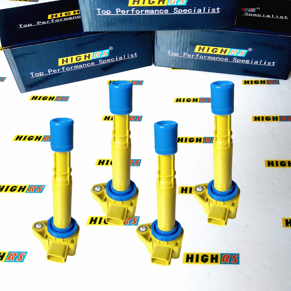 Conjunto de 4 bobina de encendido bobinas ajuste Honda Acura EL L4 1.7L C1460 2001-2005 UF400 30520PGKA01 30520PVFA0 5C1451 30520PVJA01