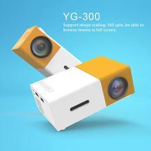 HD Mini Projetor YG300 Home Theater LED Projetor LCD Media Player de Vídeo Projetor Para 3D HDMI Movie Game Proyector