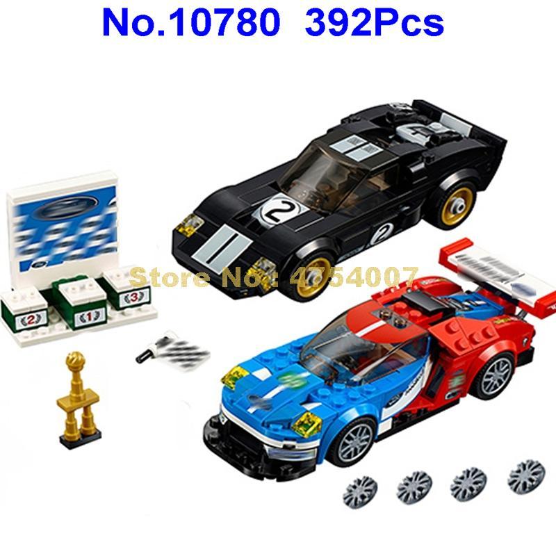 10780 392pcs super racer 395 racing car bela building blocks 3 figures  75881 Toy