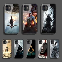 game assassin phone tempered glass case cover for iphone 5 6 7 8 11 12 5s 6s x xr xs se max plus pro mini 3d phone case cell