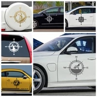 fashion compass auto stickers on the car motorcycle car decal accessories sport compass vinyl sticker decals mural