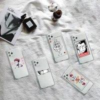 hisoka hunter hunter x anime phone case transparent for iphone 7 8 11 12 se 2020 mini pro x xs xr max plus