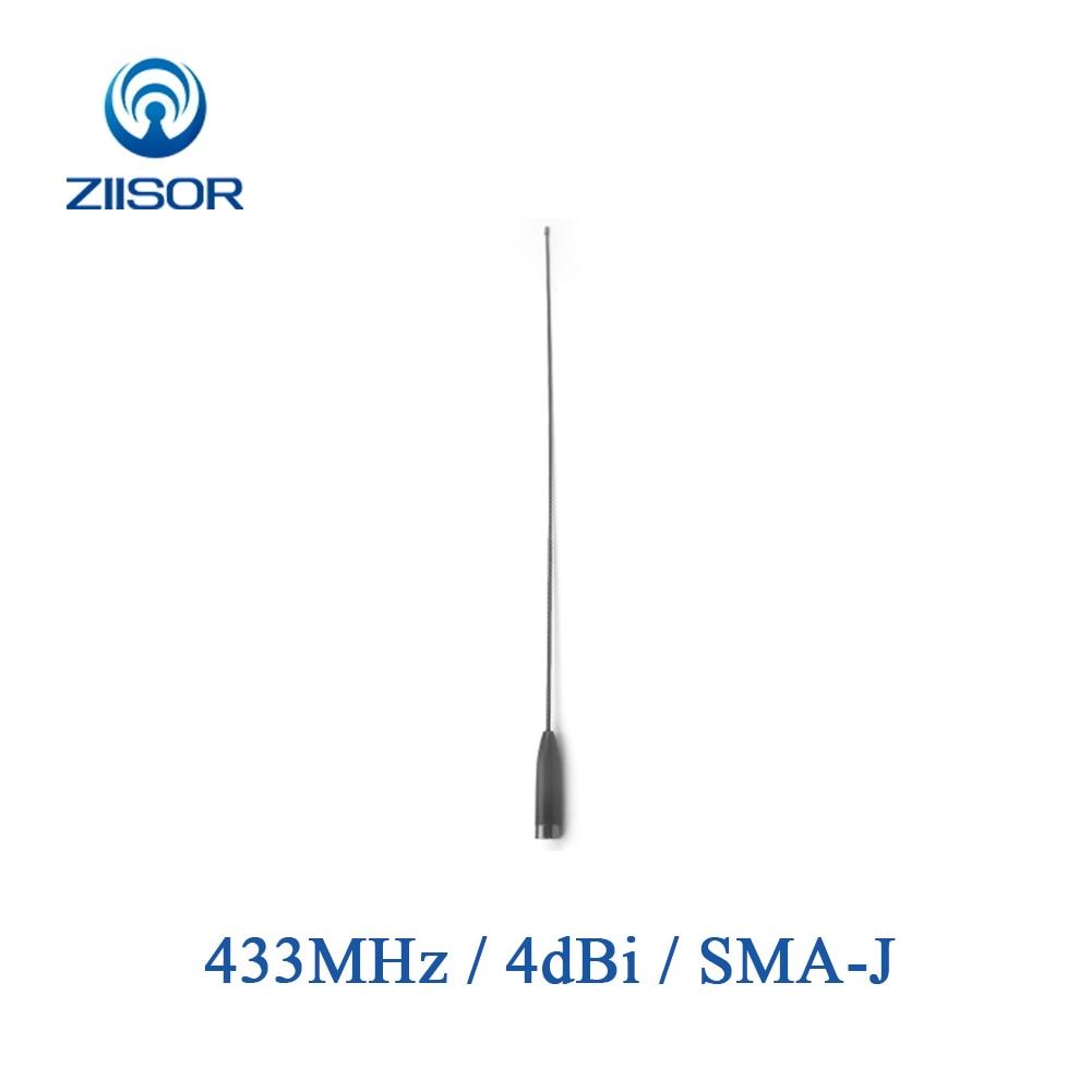 433MHz UHF banda Walkie Talkie antena alta ganancia Omni SMA macho transmisión de datos módulo inalámbrico DTU Control remoto Z52-B433SJ
