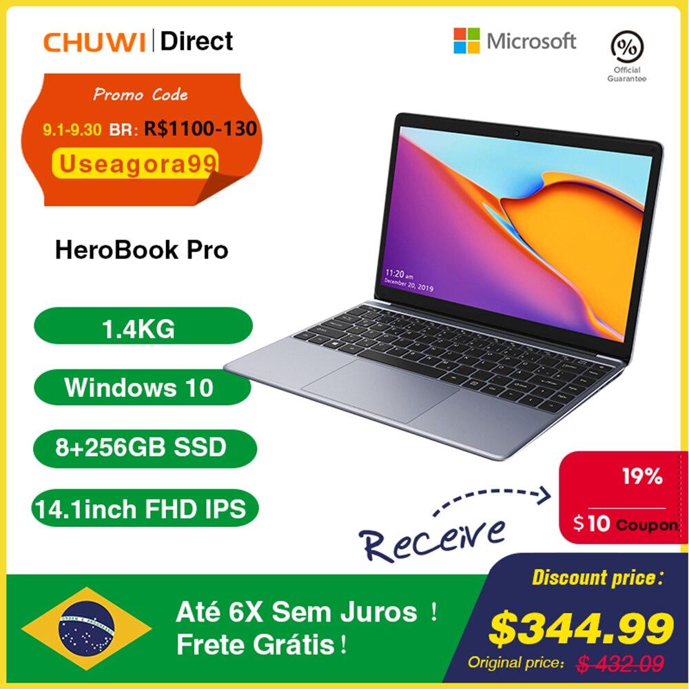 CHUWI HeroBook Pro 14.1 inch Laptop 8GB RAM 256GB SSD Intel Celeron N4020 Dual core Computer 1920x1080 Windows 10 NotebooK