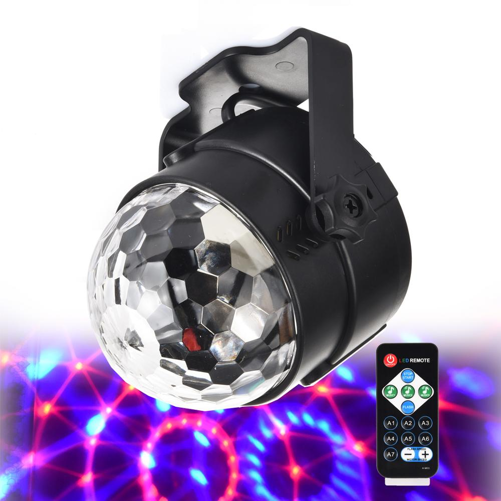 3w usb 5v mini disco ball lamp dj ktv stage light wireless ir remote voice activated lamp home party dance floor rgb light show DJ lamp Disco Ball Lumiere 3W Sound Activated Laser Projector RGB Stage Lighting effect Lamp Christmas KTV Music Party Light