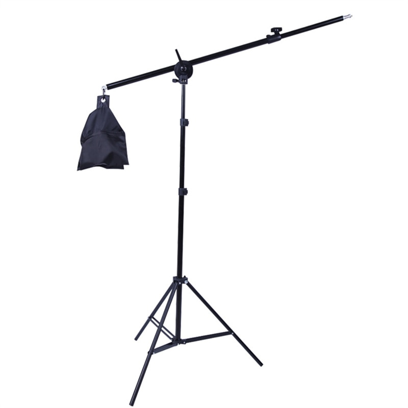 Tripod for Softbox Light Stand Photo Studio 2M with 1.4M Boom Arm Flexible Sandbag Supporting Lighting Photography Phone Flash