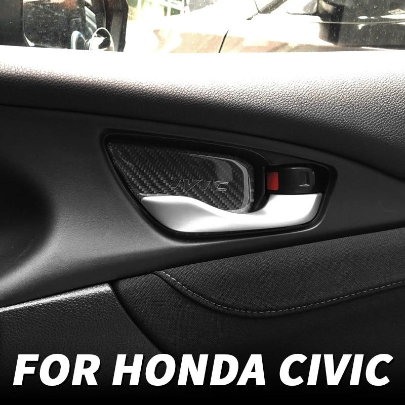 Внутренняя накладка на дверную ручку для Honda Civic 10, 2016, 17, 18, 19, 2020, 2021, модифицированные аксессуары