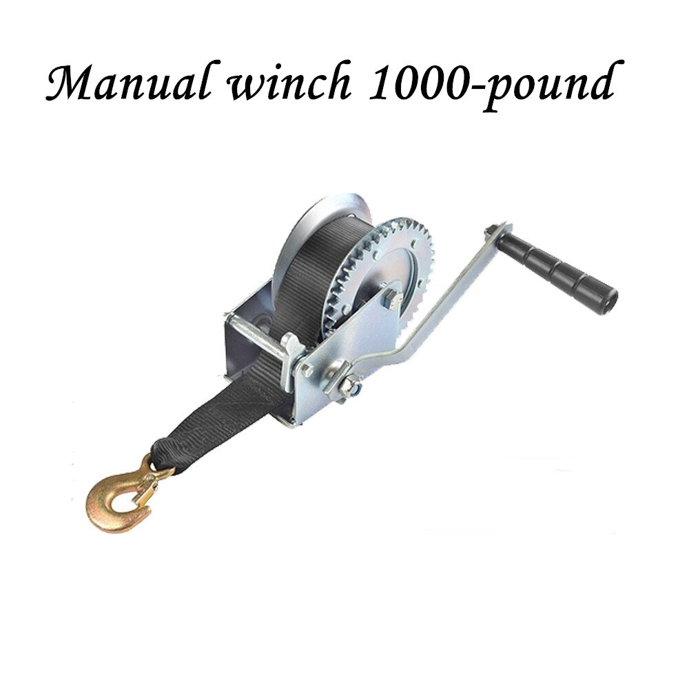 new 3000 pound hand winch manual winch spray moulded red coloured galvanized nylon rope winch Manual winch 1000-pound nylon rope winch