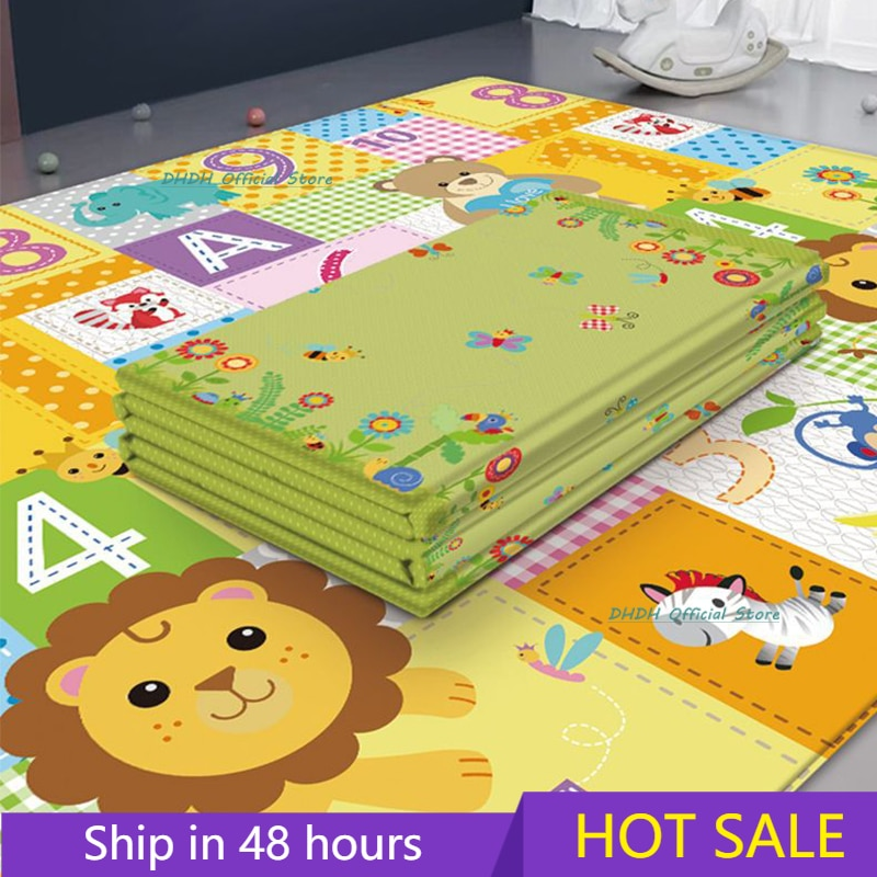 Foldable Baby Play Mat Puzzle Educational Children's Carpet in the Nursery Climbing Pad Kids Rug Activitys Games Toys 180*100cm