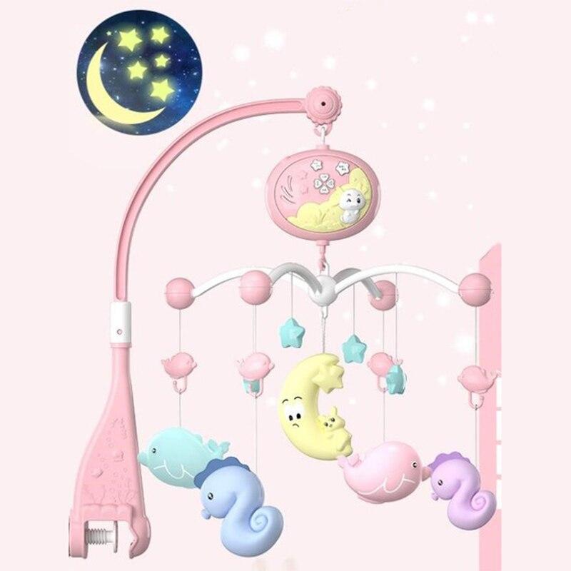 Мобильные погремушки для детской игрушки на кроватку, музыкальные развивающие игрушки карусель для детской люльки для детей 0-12 месяцев, дл...