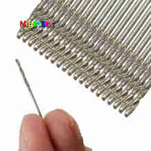 10 pièces/ensemble 1MM diamant enduit HSS à pointe solide forets forets hélicoïdaux