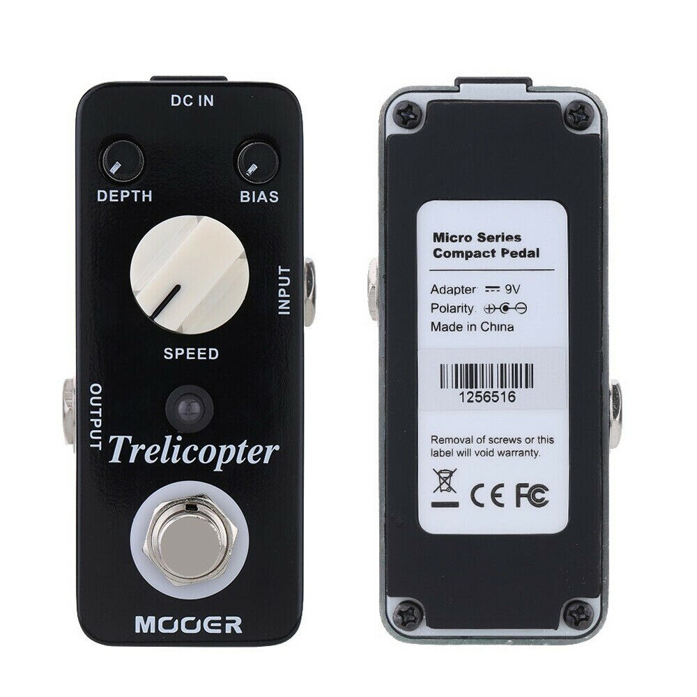 Mooer Mtr1 Trelicopter Electric Guitar Pedaleira Guitarra Classic Optical Tremolo Pedal Guitar Parts Synthesizer Effector enlarge