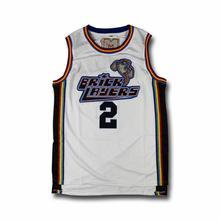 Couches de briques MTV Lawrence #22 Aaliyah #19 Warreng #2 hommes maillot de basket blanc