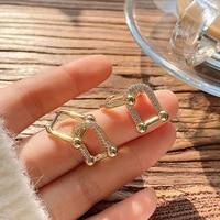 classic elegant geometric square dangle earrings for women s925 needle high quality aaa zircon jewelry detachable accessories