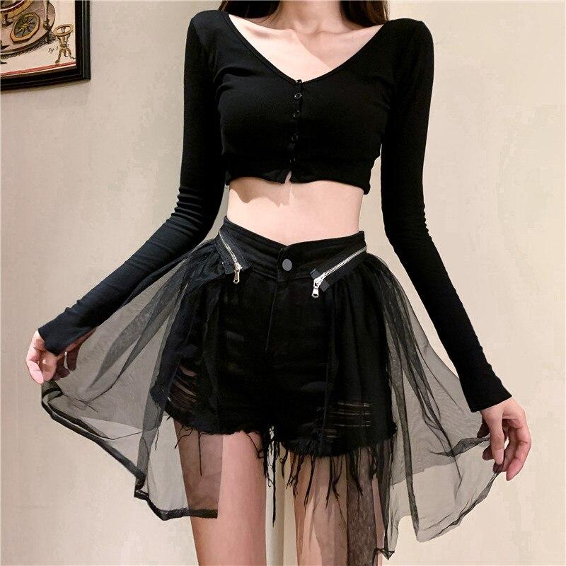 Pantalones Punk de encaje estilo oscuro vestidos de Lolita gótica negro de encaje entallada estilo pantalones regalo Drop Ship