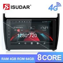 Isudar H53 4G Android 1 Din Auto Radio para VW/Volkswagen/POLO Sedan 2009-2017 coche Multimedia GPS 8 Core RAM 4GB cámara USB DVR