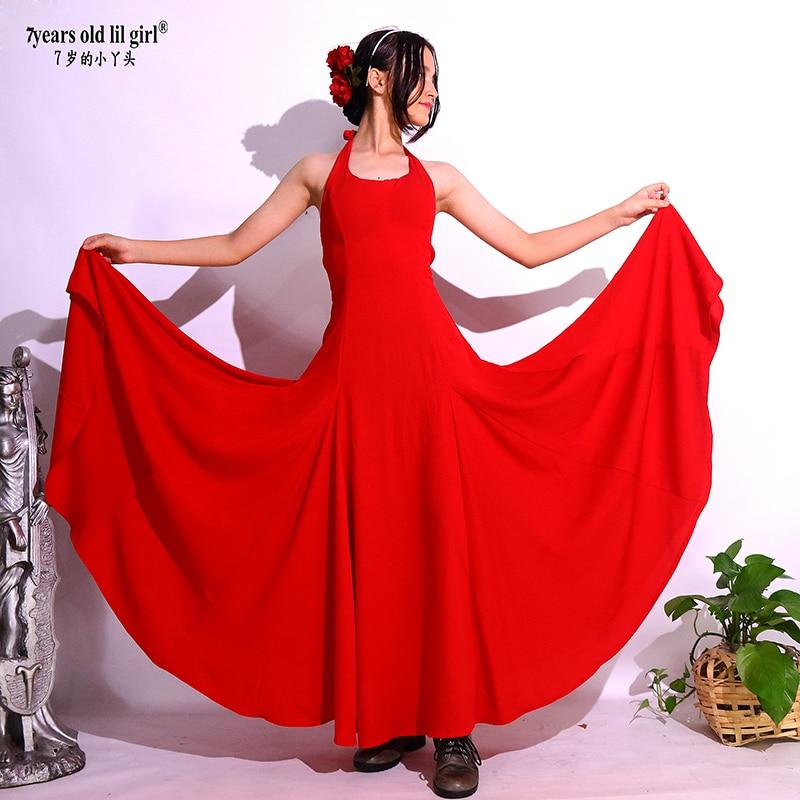 ملابس الأطفال الإسبانية الفلامنكو الحديثة فستان رقص ملابس نسائية