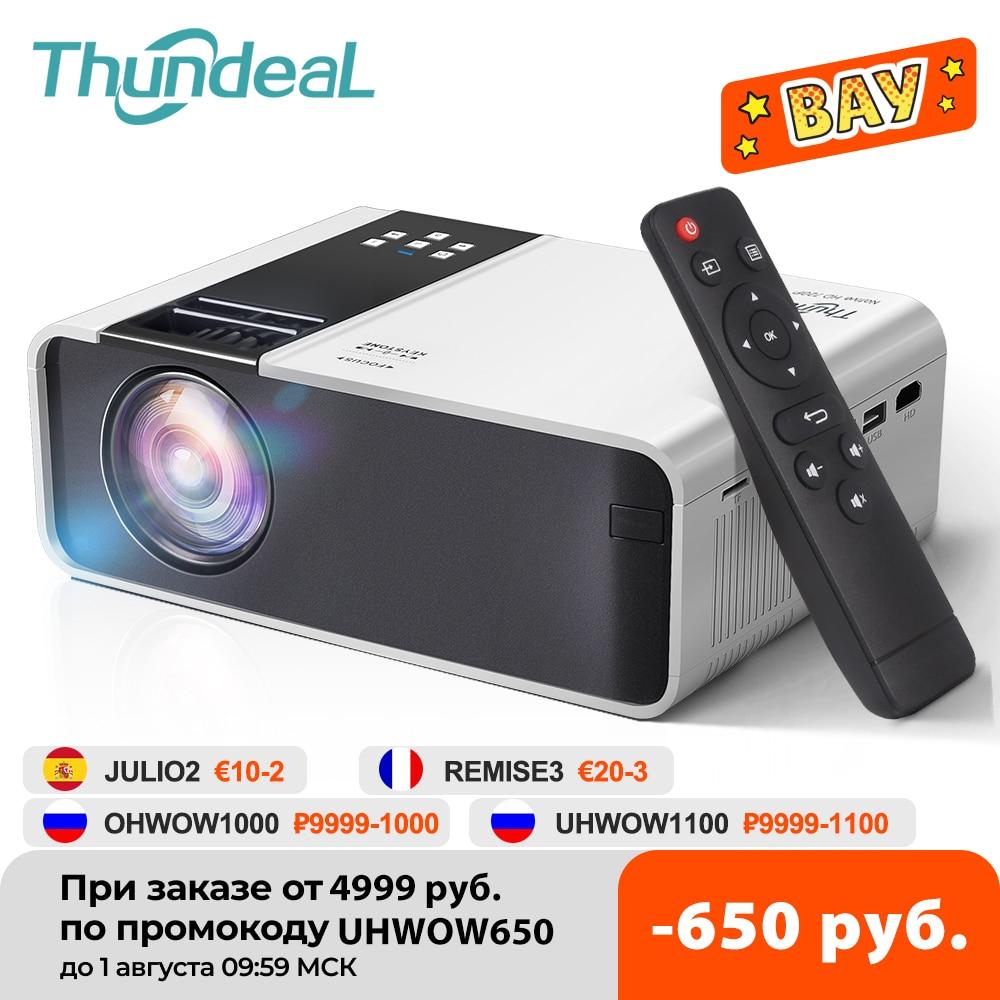 ThundeaL HD جهاز عرض صغير TD90 الأصلية 1280x720P LED الروبوت WiFi البروجيكتور فيديو هوم سينما 3D الذكية الفيلم لعبة Proyector
