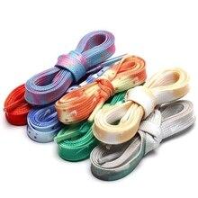 120 CM Flat Shoelaces Shoe Laces Cords Tie dye Fashion for Men and Women