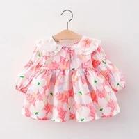 baby girl dress kids large lapel flower tutu dress birthday party princess dress toddler spring autumn clothing 0 1 2 3 4 years