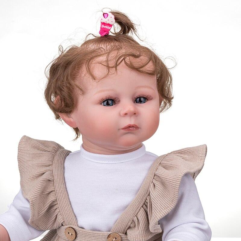تولد من جديد دمية طفل 51 سنتيمتر كامل الجسم القطن مع القماش مجموعة واقعية دمية اللعب لعب للأطفال