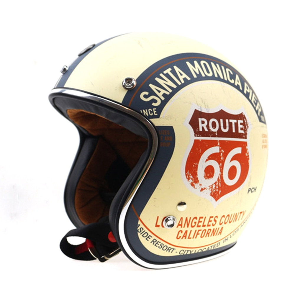 TORC Route 66 Motorcycle Helmet Jet DOT Vintage Scooter Helmets Cruise Retro Helmet Moto Biker riding helmets