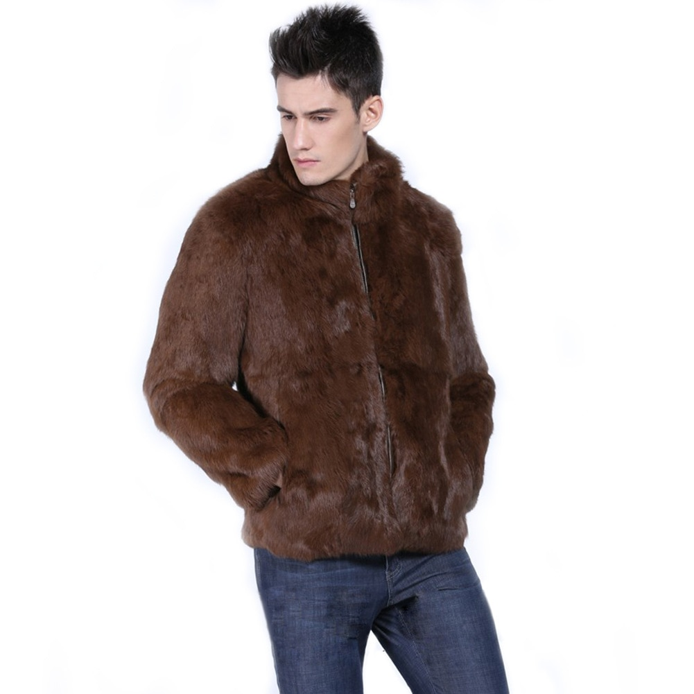 European and American new style faux fur men's jacket mink fur jacket warm faux fur rabbit fur coat