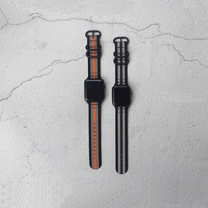 Nylon Canvas Band For Apple Watch 5 4 42mm 44mm iwatch loop starp 38mm 40mm 3 2 1 For Apple Watch Series watchband