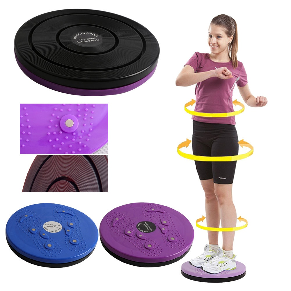 Twist Waist Torsion Disc Board Aerobic Exercise Fitness Reflexology Magnets Effectively Lose Belly F