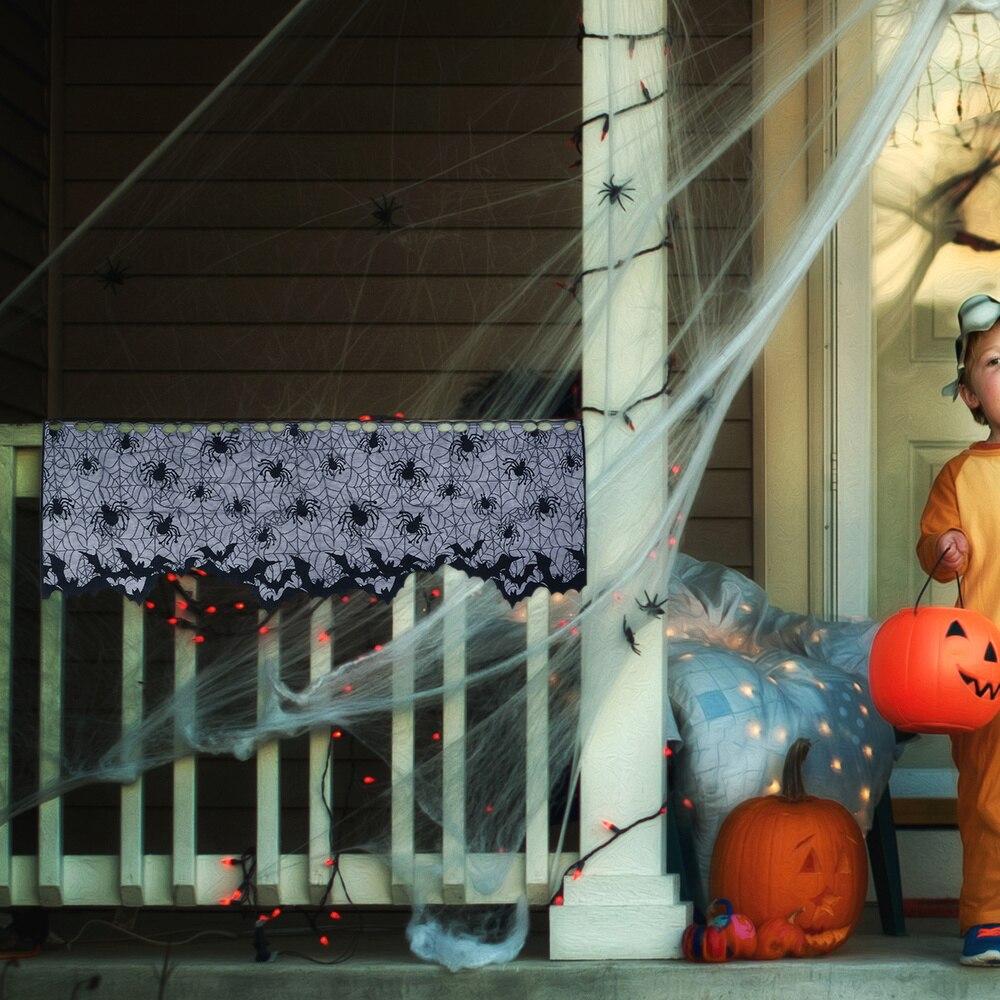 1 Juego de artículos de decoración de Halloween malla Tulipa cortina adorno para el hogar