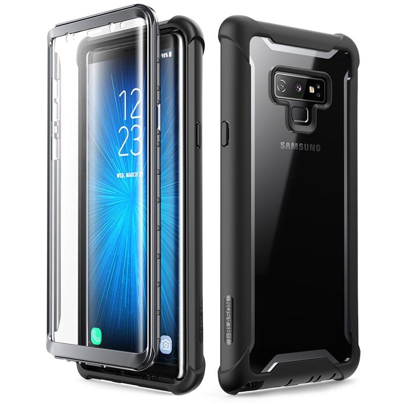 I-BLASON para Samsung Galaxy Note 9, carcasa de parachoques transparente resistente de cuerpo completo de la serie 2018 Ares con Protector de pantalla incorporado