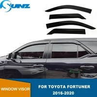 side window deflectors for toyota fortuner 2016 2017 2018 2019 2020 2021 car sun visor window visor door guard rain shields sunz